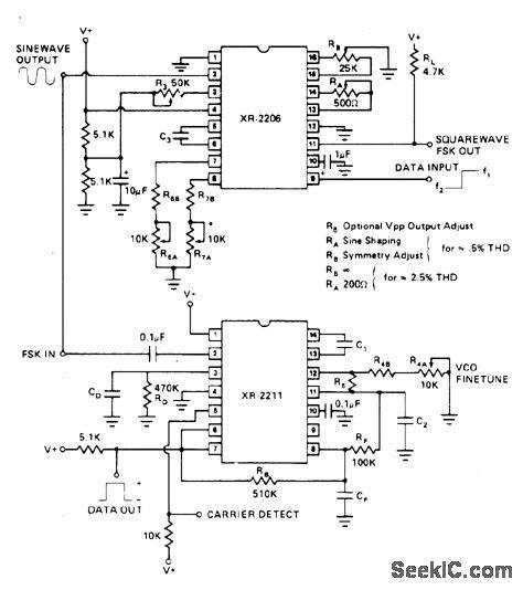 Am Modulation And Demodulation Using Multiplier Ic Circuit Diagram