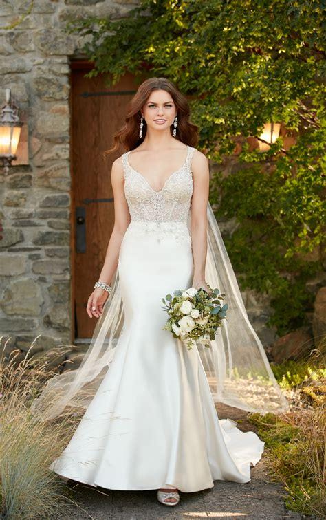 dress d950 by xaverana boutique formal wedding dress with beading essense