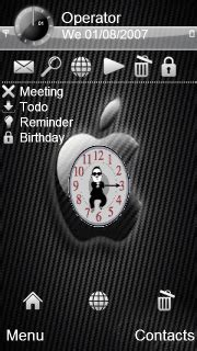 themes apple clock download gangnam style apple clock s60v5 theme nokia theme