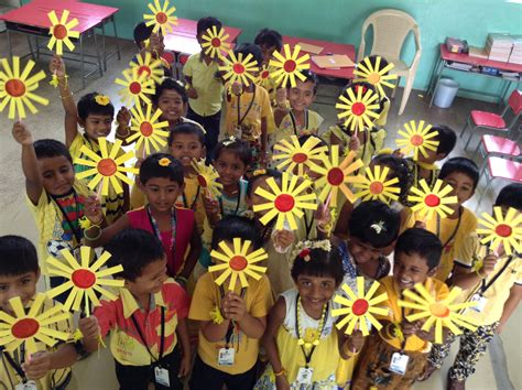 color day yellow color day celebration 2016 sathyam international
