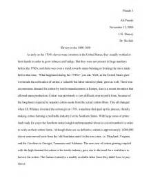 Essay On Slavery by Us History Slavery Essay