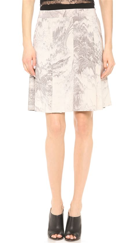 creatures of the wind flat pleat skirt marble in