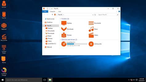orange themes for windows 10 orange iconpack for win7 8 8 1 10 skinpack customize