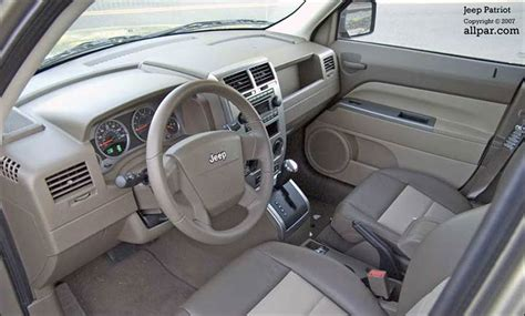 white jeep patriot inside 2008 jeep patriot test drive