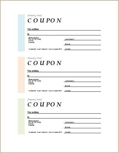How To Make Coupons With Sle Coupon Templates Word Document Templates Coupon Template