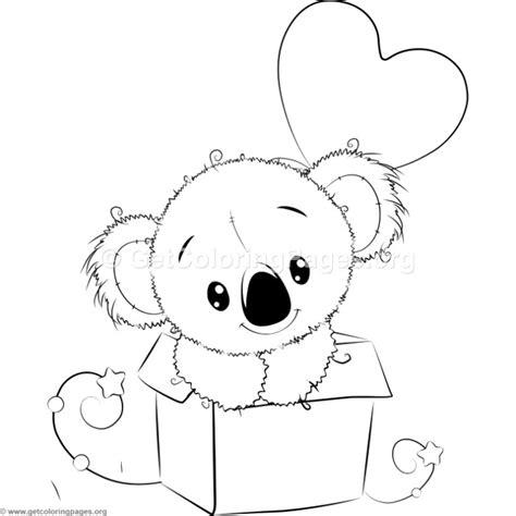 cute koala coloring pages cute koala 7 coloring pages getcoloringpages org