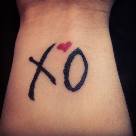 xo tattoo ideas xo the weeknd inspired mini tattoos