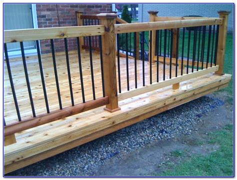 Ideas For Deck Handrail Designs Metal Deck Railings Designs Decks Home Decorating
