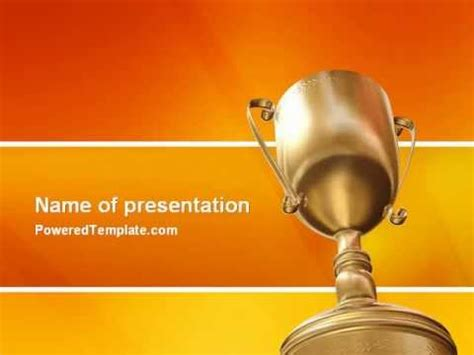Award Powerpoint Template By Poweredtemplate Com Youtube Awards Presentation Template