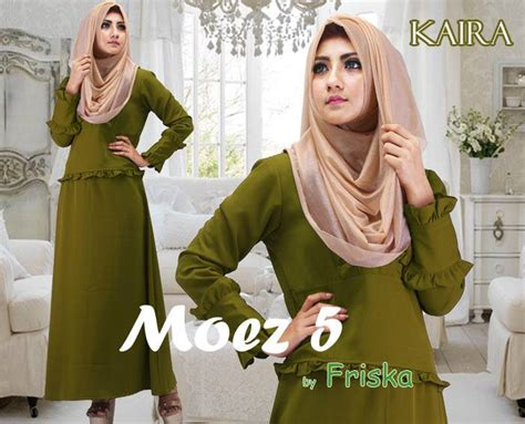 Baju Muslim Wanita Gamis Dress Ar119662jm Hijau kaira dress hijau lumut baju muslim gamis modern