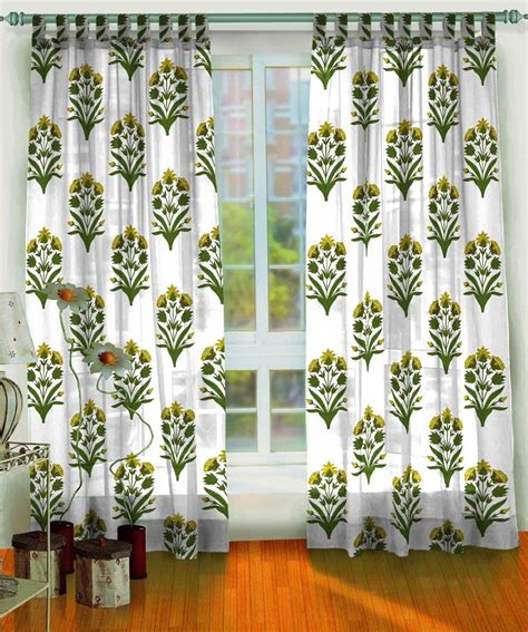 Block Print Curtains 2 Pcs Set Of Mughal Sanganeri Jaipur Block Print Curtains Home Fashion Shopping