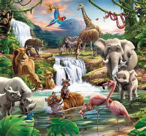 Jungle Wall Murals Jungle Mural Kids Wall Murals
