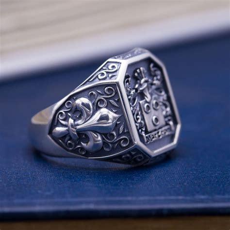 Custom Rings by Custom Signet Rings Family Crest Rings Coat Of Arms