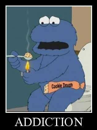 Meme Addiction - so technically cookie monster has a food addiction problem
