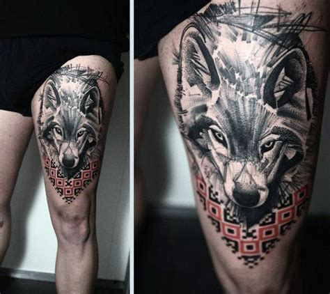 upper thigh tattoos for men 70 thigh tattoos for manly ink designs