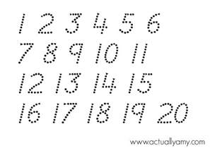 number templates 1 20 actually number tracing printable