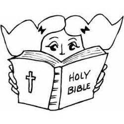 reading bible coloring page