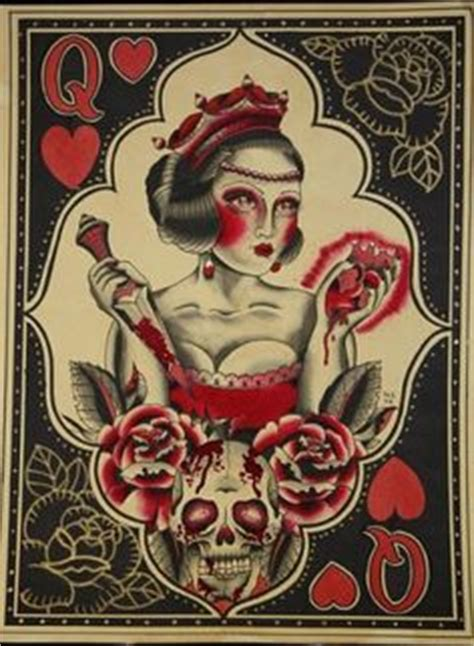 queen tattoo flash traditional flash and tattoos i like on pinterest 158 pins