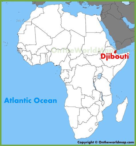 africa map djibouti djibouti location on the africa map