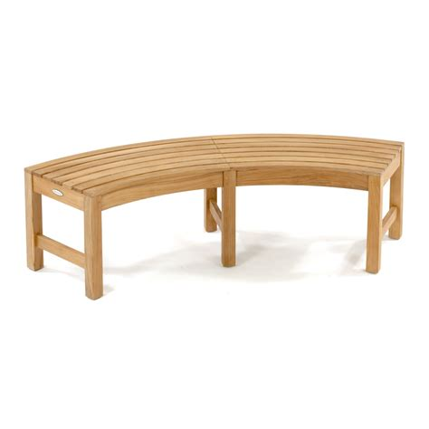 teak backless bench buckingham teak backless curved round bench westminster teak outdoor furniture