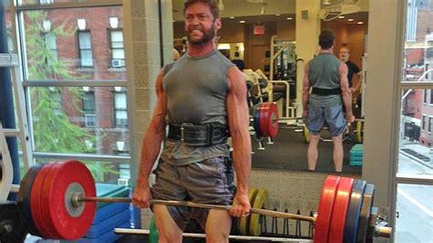 hugh jackman bench hugh jackman deadlifting 180kg 396lbs ig videos