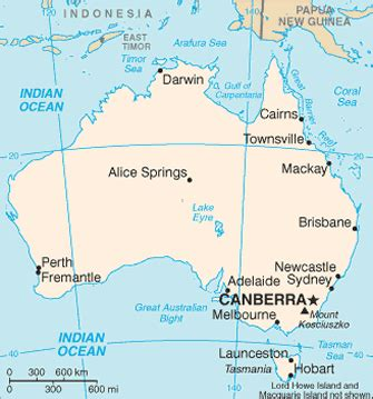 map of australia with oceans travelblog 187 map of australia