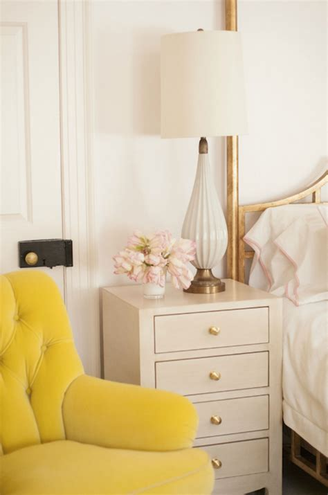 Yellow Bedroom Chair Bedrooms Yellow Tufted Back Wing Chair Design Ideas