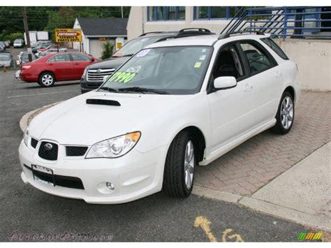 white subaru wagon 2007 subaru impreza wrx wagon in satin white pearl