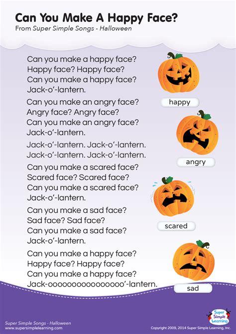 happy face lyrics poster super simple