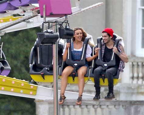 perrie and zayn at her funfair birthday party little mix
