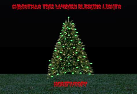 blinking christmas tree lights second life marketplace 2 prim christmas tree w green
