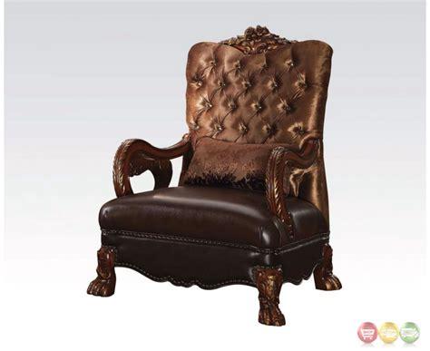 dresden tufted chair in gold velvet cherry