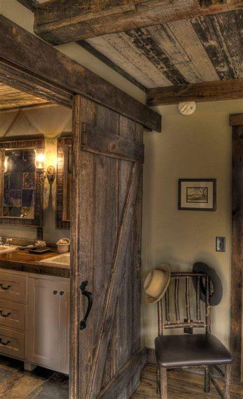 Doors Between Kitchen And Bathroom by 17 Ideas About Log Cabin Decorating On Log