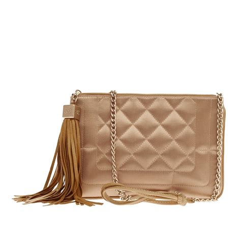 Chanel Quilted Bags by Chanel Tassel Shoulder Bag Quilted Satin At 1stdibs
