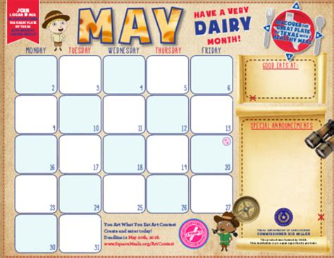 Kindergarten Calendar Templates Free Menu Calendar Templates 10 Printable Pdf Documents