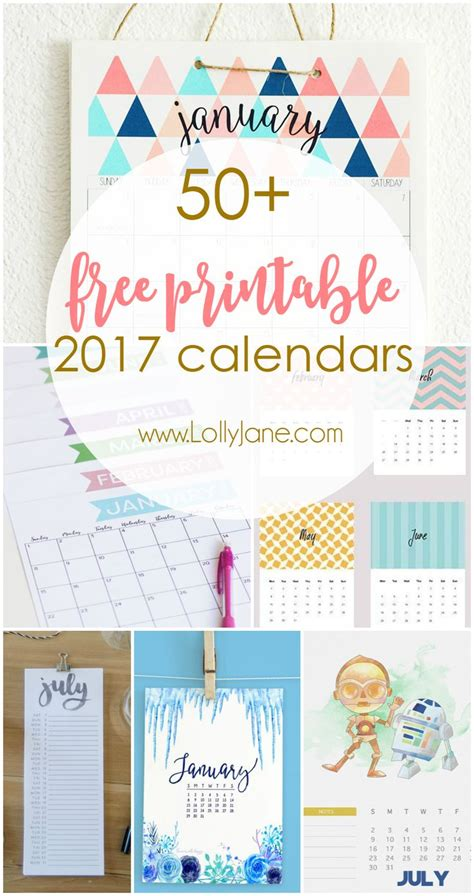 38 best diy printable 2017 calendars images on free printables bullet journal and best ideas for diy crafts 50 2017 free printable calendars the ultimate collection of free