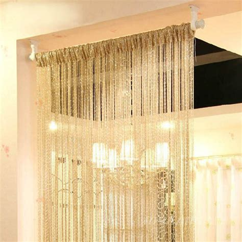 New Style Curtains Home Curtain New Style Silver Silk Curtain Living Room Door Window Partition Sheer Curtain Free Drop