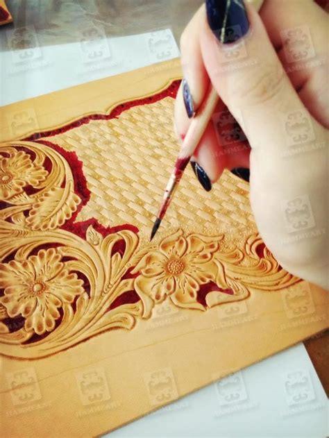 Handmade Leathercraft - chunmei liu s handmade leathercraft dyeing process