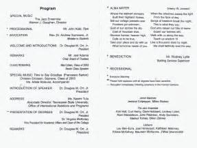 graduation ceremony program template 88 graduation programme sle 4 candidates for