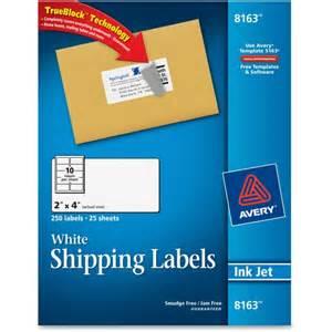 avery 8163 address label 2 quot width x 4 quot length 250 pack
