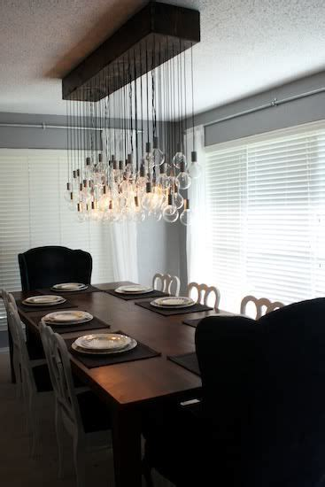 Diy Dining Room Light For The Home Pinterest Diy Dining Room Lighting Ideas