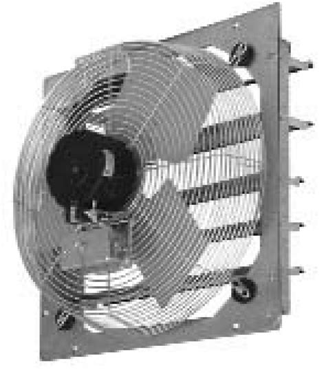industrial exhaust fan with shutter tpi corp ce ds shutter mounted wall exhaust fans
