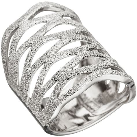 Silber Ringe by Breiter Ring Damenring Aus 925 Silber Mit Struktur Breite