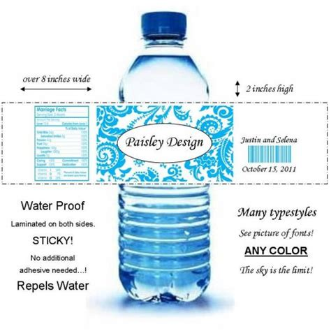 mineral water label template search results for bottled water label template