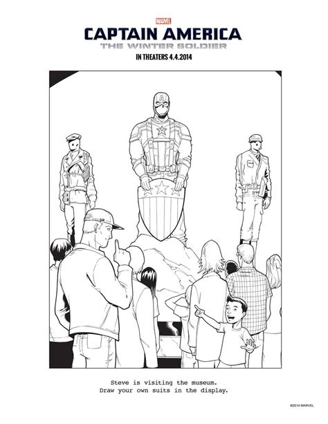 captain america the winter soldier coloring pages more