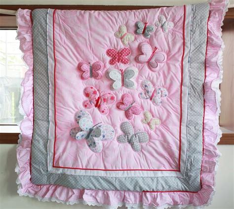 Bedding Baby Set Bedcover Bayi 2 wholesale 2016 baby bedding sets embroidery 3d butterfly crib bedding set pink contains qulit