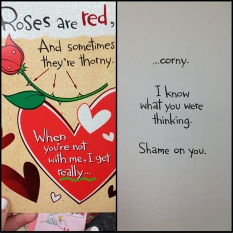 corny valentines day cards the best roses are read poem i ve read barnorama
