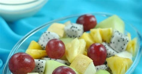 cara membuat salad buah pake yoghurt panci baris fruit salad