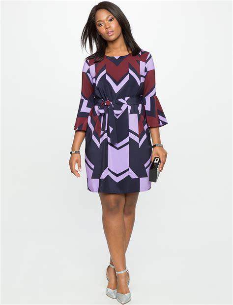 Printed Sleeve Dress printed flared sleeve dress s plus size dresses