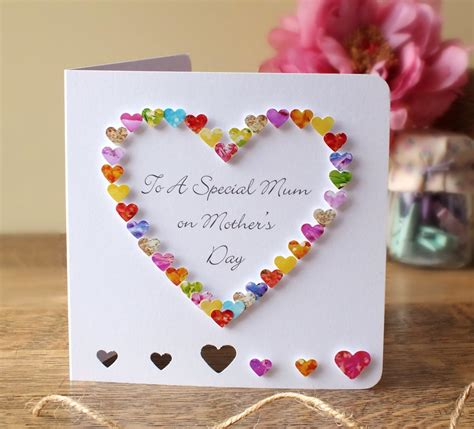 Mothers Day Handmade Cards - handmade 3d s day card personalised personalized